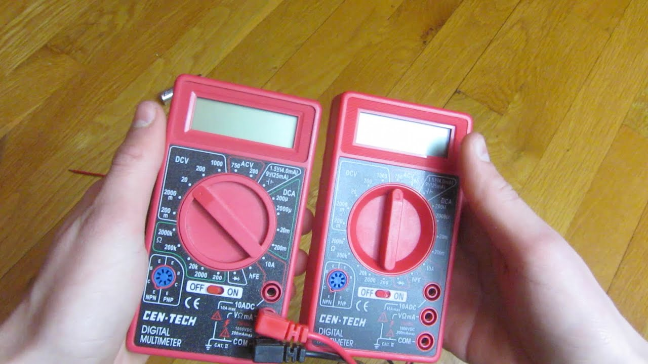 Harbor Freight Cen Tech Multimeter - Year of Clean Water