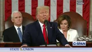 President Trump Praises Tillis on Sanctuary Cities Bill During SOTU