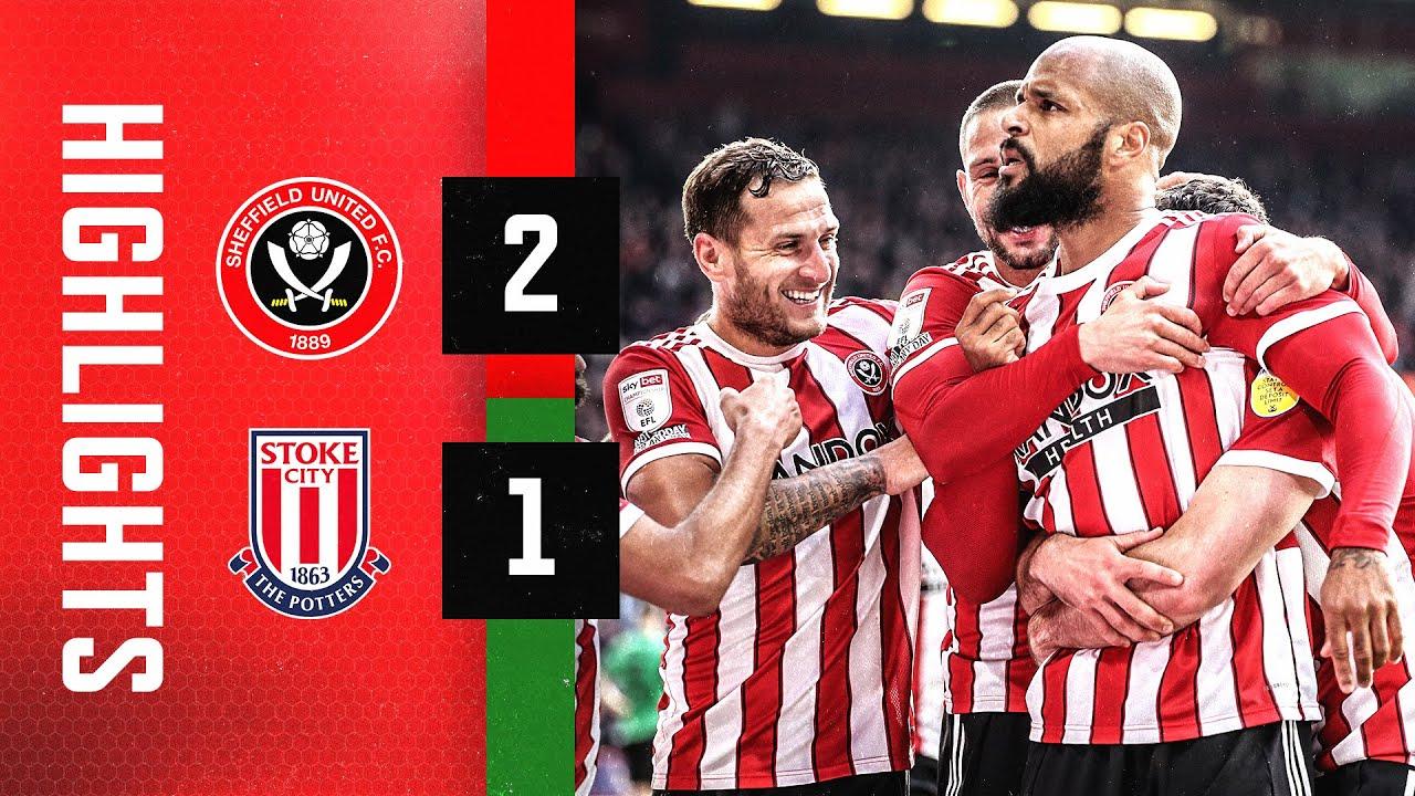 Sheffield United 2-1 Stoke City   EFL Championship highlights   McGoldrick & Mousset goals 🔥⚔️
