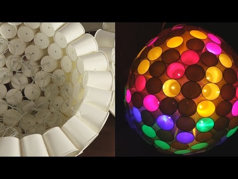 simple-paper-cup-craft-ideas-|-home-decoration-light-with-paper-cups