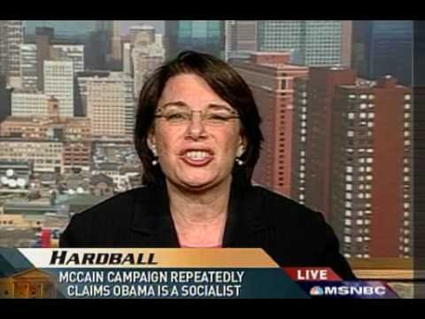 Obama the socialist ? Sen. Amy Klobuchar Chris Mathews