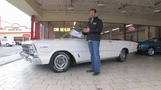 1966 Galaxie 500 Convertible for sale with test drive, driving sounds, and walk through video