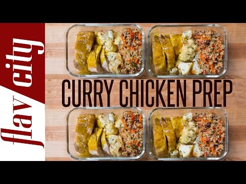 Chicken Meal Prep - Healthy Curry Chicken - Easy Chicken Meal Prep