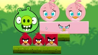 Angry Birds Kick Pigs - STELLA HELP RED KICK THE ROUND PIG GAMEPLAY!