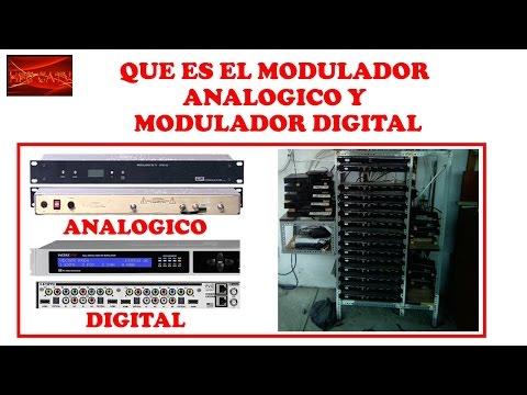 QUE ES UN MODULADOR ANALOGICO Y MODULADOR DIGITAL CURSO DE TELEVISION POR CABLE