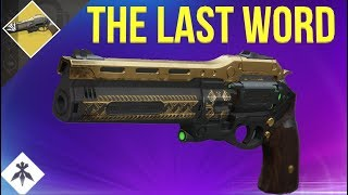 THE LAST WORD RETURNS! (Console Gameplay/Review) DESTINY 2 BLACK ARMORY