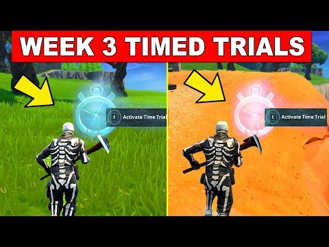 How To Complete Timed Trials LOCATIONS - WEEK 3 CHALLENGES FORTNITE SEASON 6
