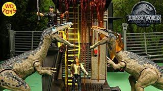 New Jurassic World Lava Surge Playset Unboxing Baryonyx Slime Mattel Dinosaur Toys Fallen Kingdom