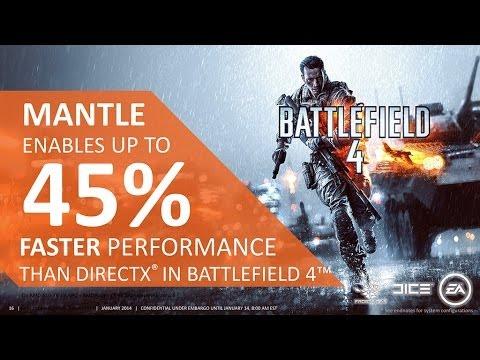 BattleField 4 | Mantle Vs DirectX 11.2 | HD 7870 | Test Range