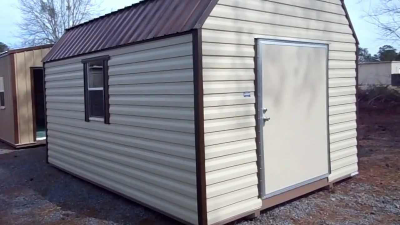 Aluminum Sided 12 x 16 Barn from Coolsheds.com - YouTube