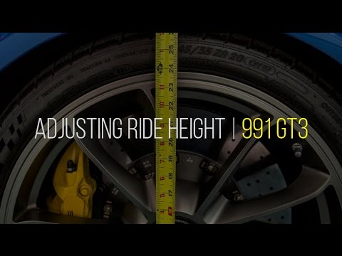 Adjusting Ride Height (Lowering) on 2014 Porsche GT3