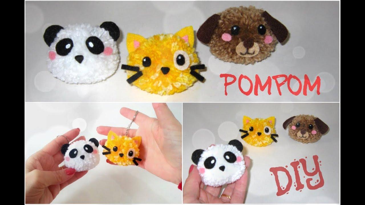 Como fazer Bichinhos de Pompom - DIY Pom Pom Animals - YouTube b309bf90792