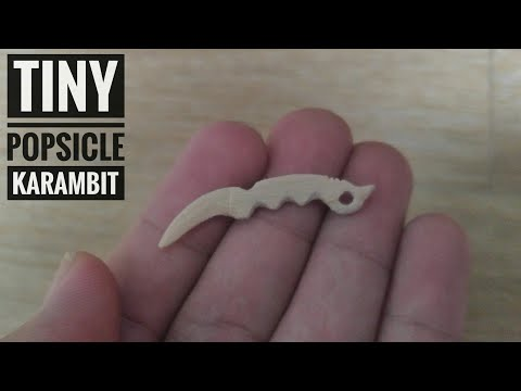 Tiny Popsicle CS-GO Karambit- DIY