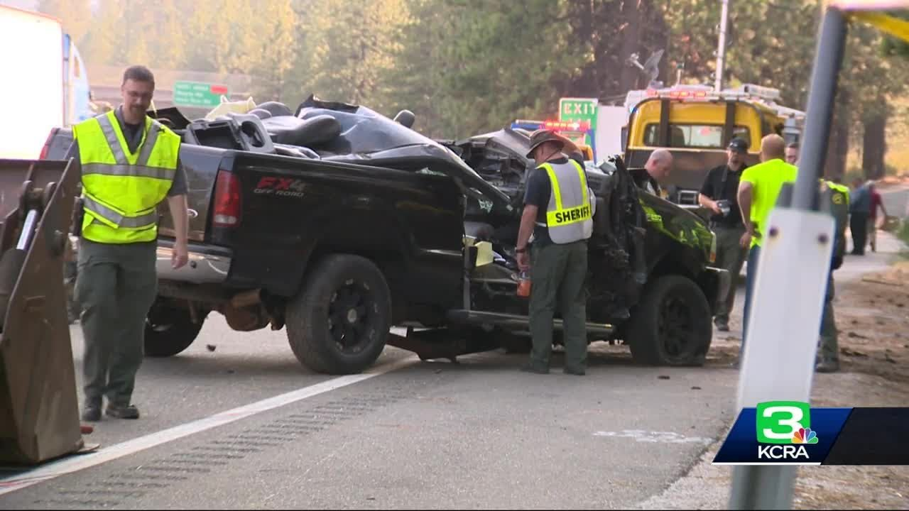 2 killed when truck crashes into tree along I-80