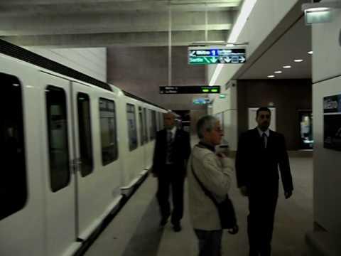 Métro de Marseille - Station La Fourragère - Jour de l'inauguration