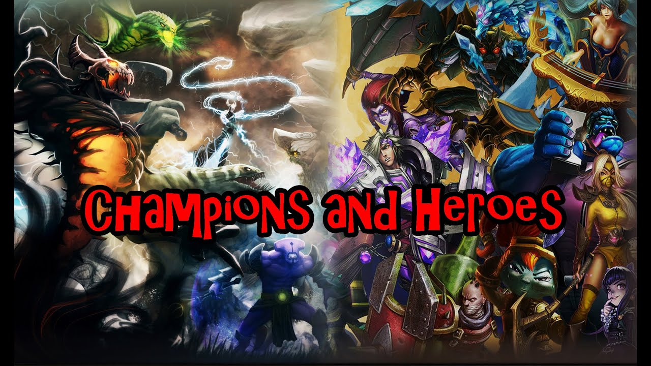 dota 2 vs lol champions and heroes youtube