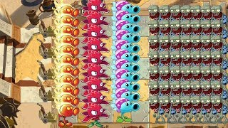 Red Stinger, Snow Pea and Fire Peashooter - Plants vs Zombies 2