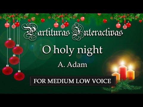 Cantique de Nöel Minuit, chrétiens  O holy night  A Adam Karaoke  Key: Bflat major