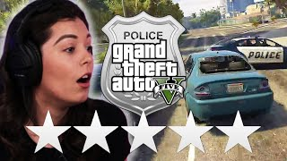 Real Police Try Escaping 5 Stars in Grand Theft Auto V • Professionals Play