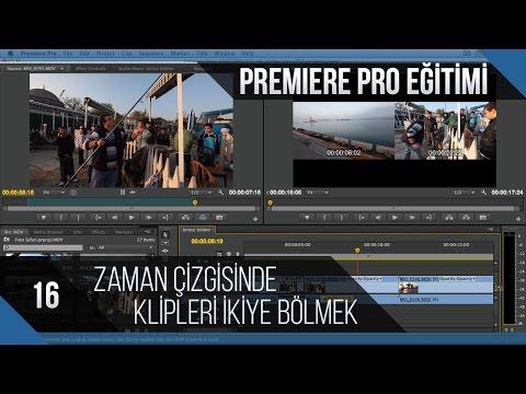 Premiere Pro Eğitimi 16 - Zaman Çizgisindeki Klipleri Ikiye Bölmek
