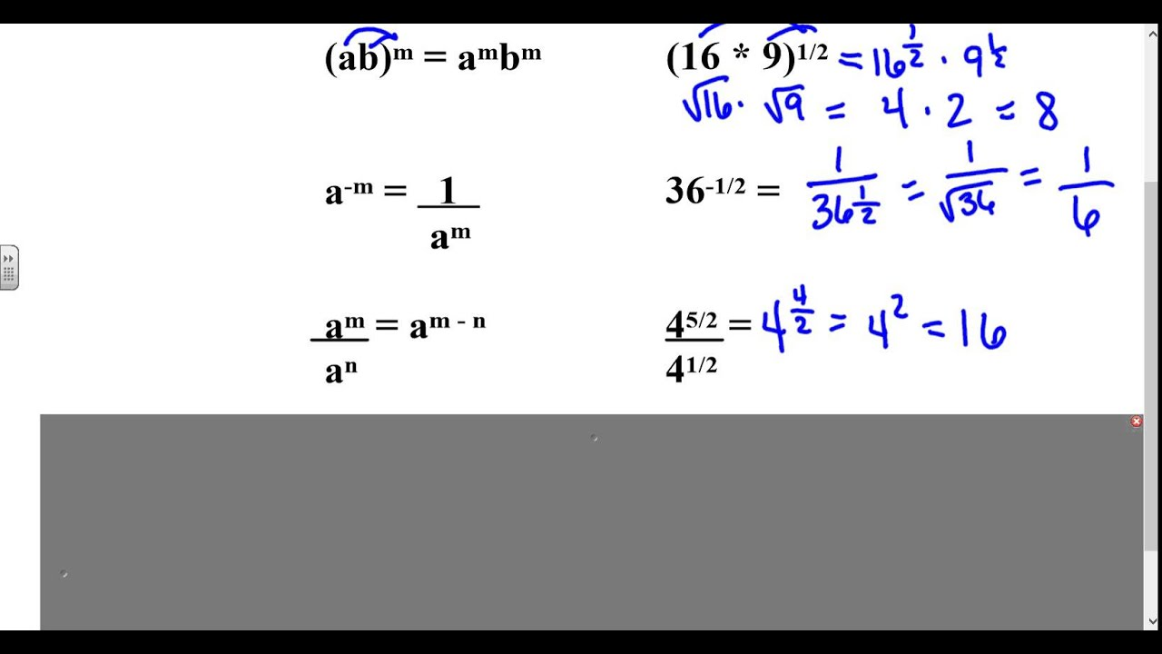 Algebra 2 Lesson 6 2 Part 1 Apply Properties Of Rational Exponents
