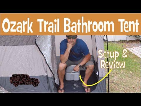OZARK TRAIL Popup 2 Room Bathroom Tent | SETUP & REVIEW