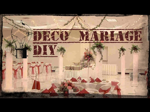 16 splendides d corations de mariage faire soi m me youtube - Decoration table de mariage a faire soi meme ...