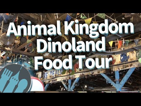 Disney World Food Tour: EVERYWHERE to Eat in Animal Kingdom's Dinoland!