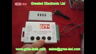 RF WS2811/WS2801 Full Color Digital Led Controller With 133 Programs Built In