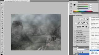 Текст на запотевшем стекле в Adobe Photoshop CS4 (15/20)