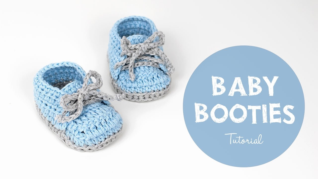 99586e9523 How To Crochet Cute And Easy Baby Booties  Baby Sneakers