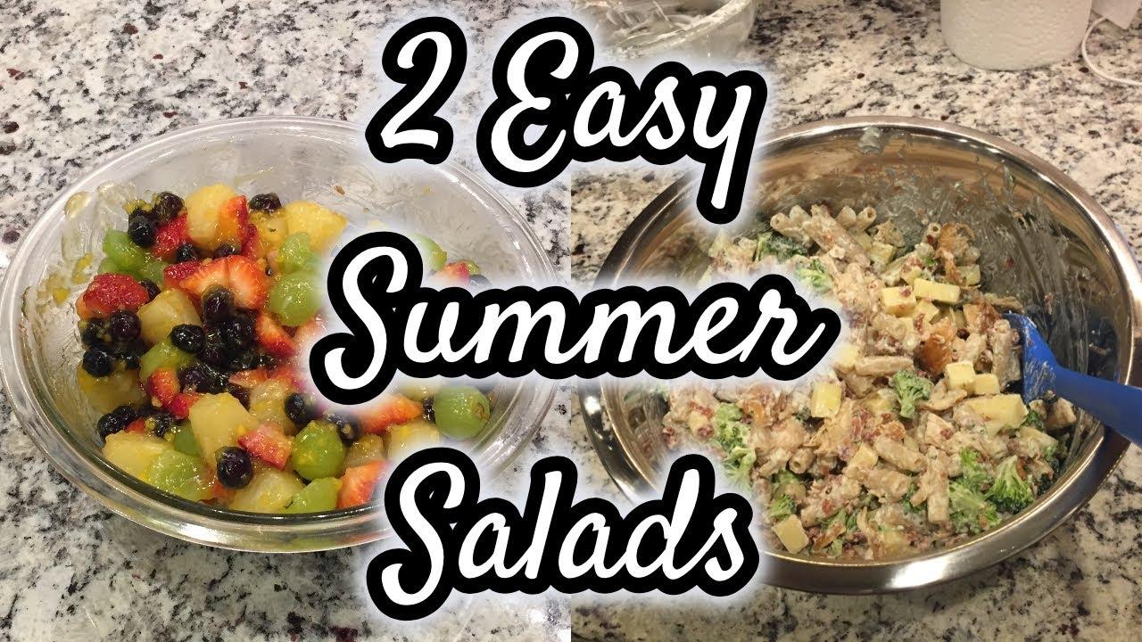 Easy Summer Side Dish Recipes Chicken Bacon Ranch Pasta Salad Fun Fruit Salad Youtube