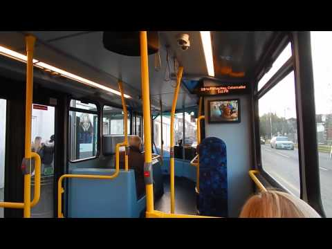 Inside A London Bus Route 119 in the Shirley Area 7 March 2017