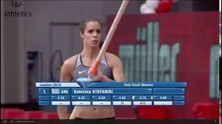 Katerina STEFANIDI 4.80 wins Pole Valut - Diamond League London 2016