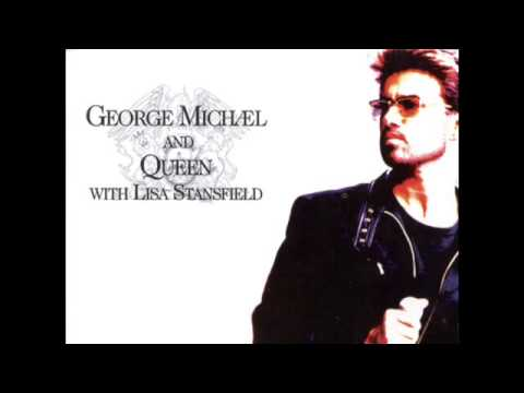 Queen & George Michael - Somebody to Love (original 1992 LIVE version) with  LYRICS