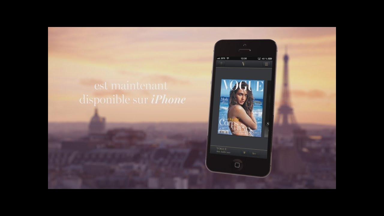 Le magazine Vogue Paris disponible sur iPhone