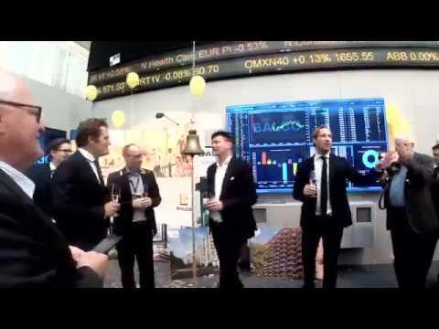 Balco Opening Bell at Nasdaq Stockholm
