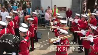 FLASHMOB Marchingband - Uptown Funk #OBK RHENEN