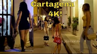 Beautiful Women on Friday Night  Cartagena Colombia 4K