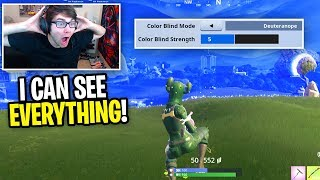 I tried color blind settings in Fortnite... (is this OVERPOWERED?)