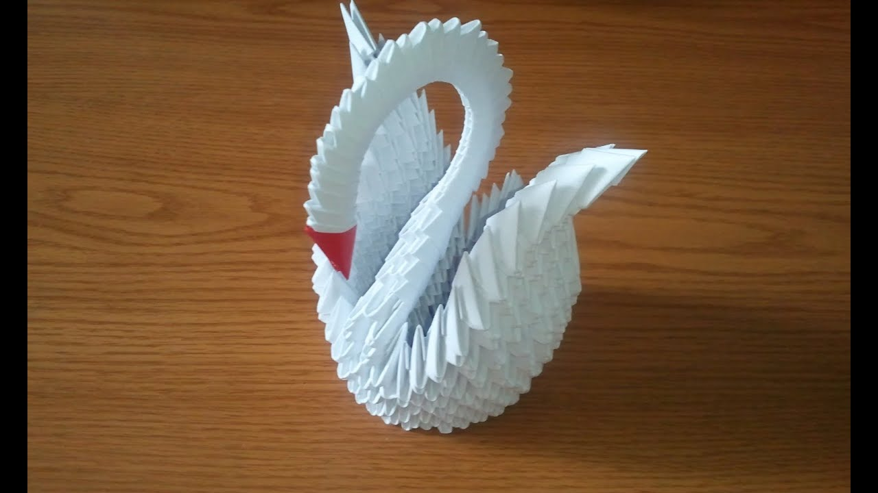 How to make 3d origami swan updated youtube