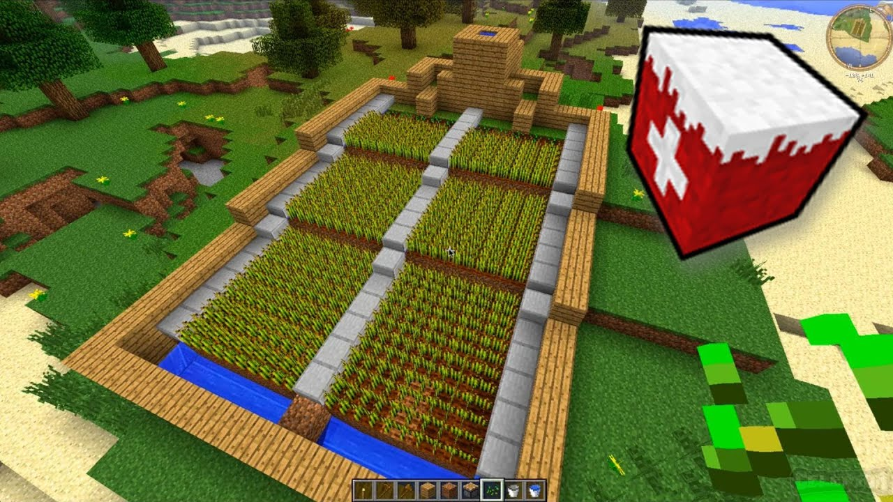 Automatic Wheat Farm Tutorial ENDE Harvest Flood Machine - Minecraft hauser gronkh