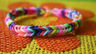 Плетение из резинок «рыбий хвост». Лучшее видео!
