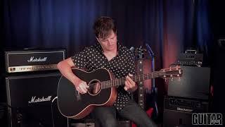 Paul Riario demos Taylor's new American Dream AD17e Blacktop acoustic guitar