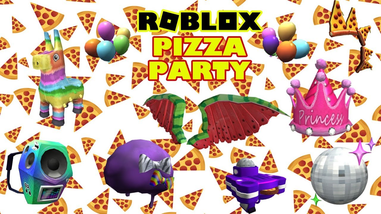 Roblox Event Pizza Party All Prizes Youtube