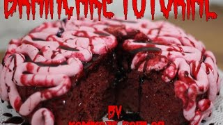 Braincake (torta cerebro) tutorial - A la cocina con Carolina ♥