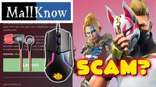 FREE FORTNITE GAMING MOUSE AND SUPER BASS HEADPHONES AT MALLKNOW! LEGIT OR SCAM?