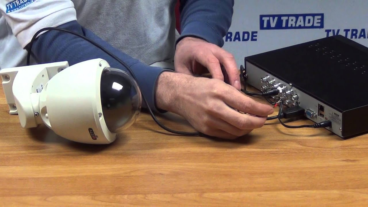 How To Connect A Ptz Camera To 960h Dvr Youtube