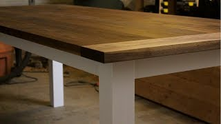 DIY Farmhouse Table with Draw-Bored Breadboard Ends// DIY Woodworking