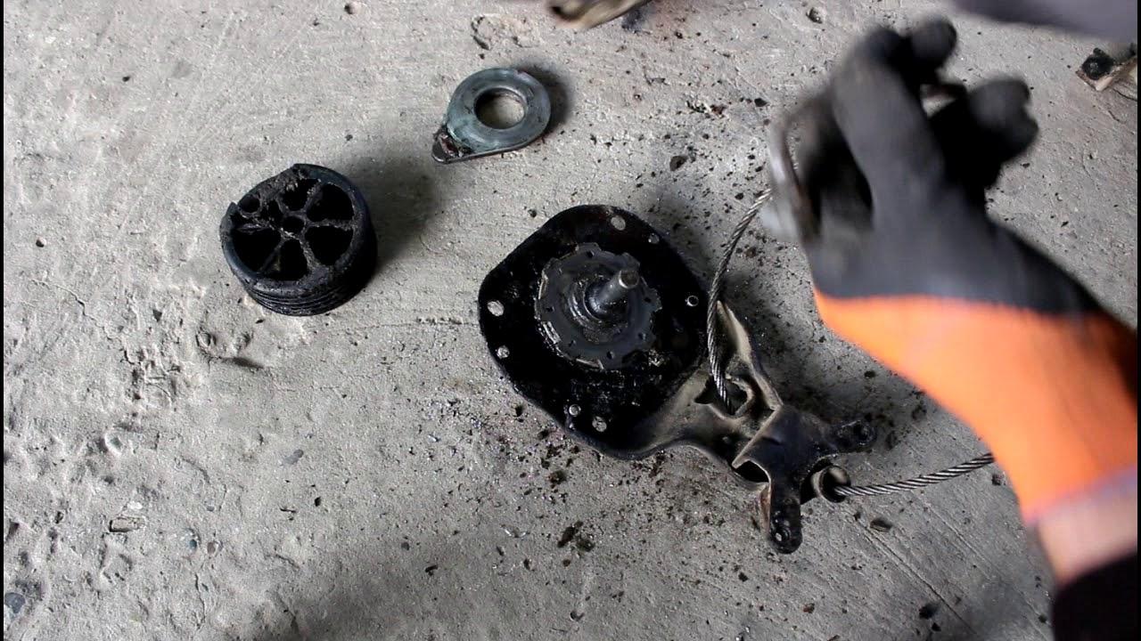 Ремонт лебедки запасного колеса на Land Rover Discovery 3 Ленд Ровер Дискавери 3